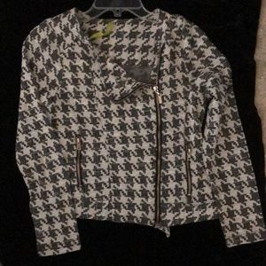 Houndstooth casual jacket - NWOT